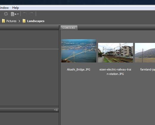 bridge browsing files adobe