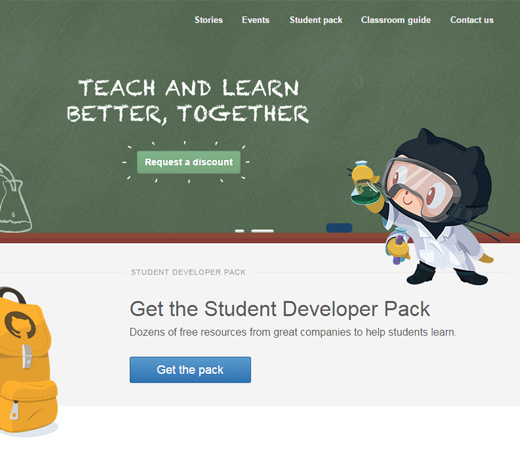 github education page website design graphics