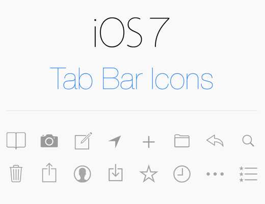 ios 7 simple thin icons