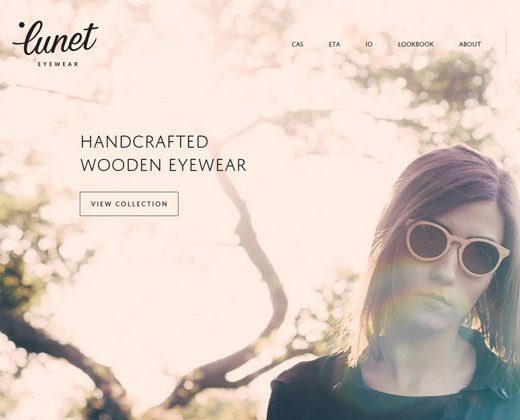 lunet eyewear shopify website homepage