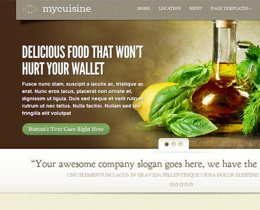 mycuisine template wordpress premium restaurant