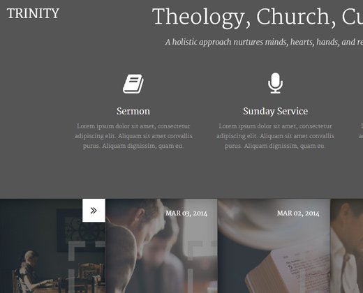trinity responsive church theme wordpress