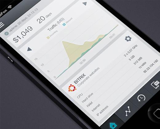 flat dashboard vps app