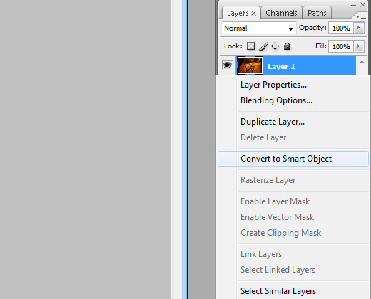 convert to smart object photoshop howto