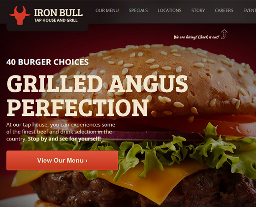 iron bull restaurant bar grill theme