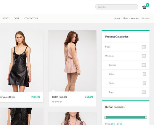 la boutique woocommerce wordpress theme design