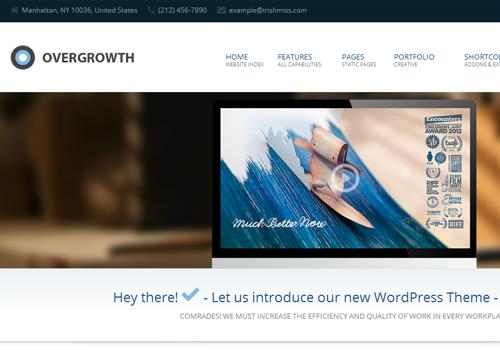 premium wordpress theme overgrowth corporation