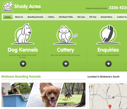 shady acres pet resort website