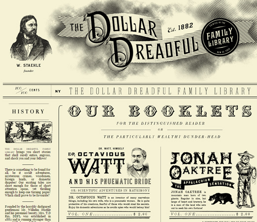 the dollar dreadful website retro