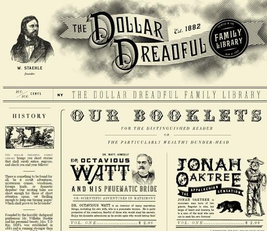 the dollar dreadful website retro