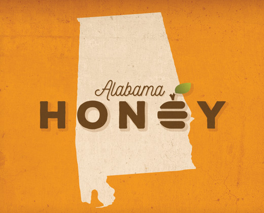 alabama honey illustration