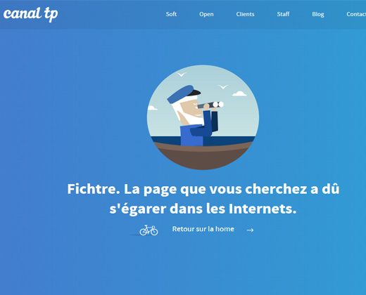 canal tp blue vector 404 page