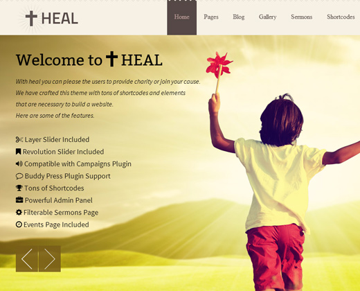 heal church charity theme premium wordpress