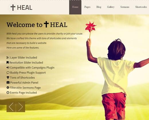 heal church charity theme premium wordpress