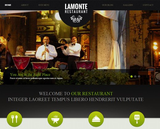 lamonte modern restaurant wordpress theme