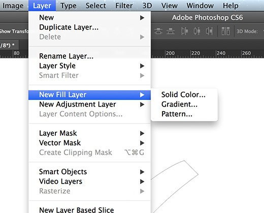 new fill layer convert path shape photoshop