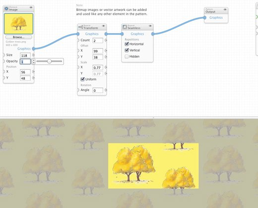 tiled graphics patternode interface vector