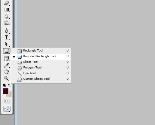 rounded rectangle photoshop tool