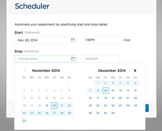 scheduler white date picker ui