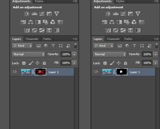 selecting a layer mask