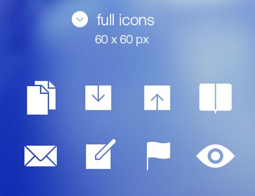 set #1 ios7 tabbar ui icons freebie
