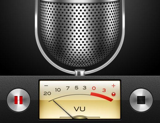 voice memos iphone app microphone ui