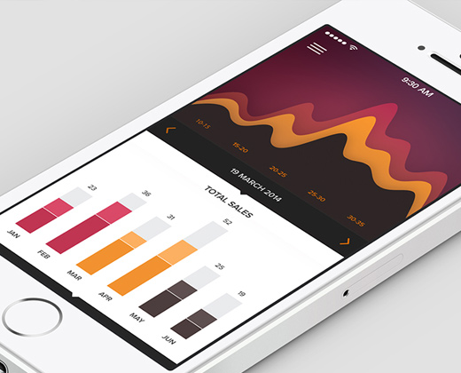 analytics dashboard colorful flat ui