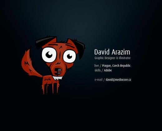 david arazim dark portfolio website