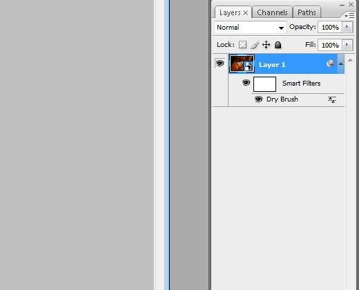 dry brush filter photoshop example