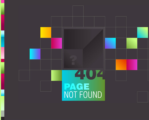 duoh 404 bright colorful page design