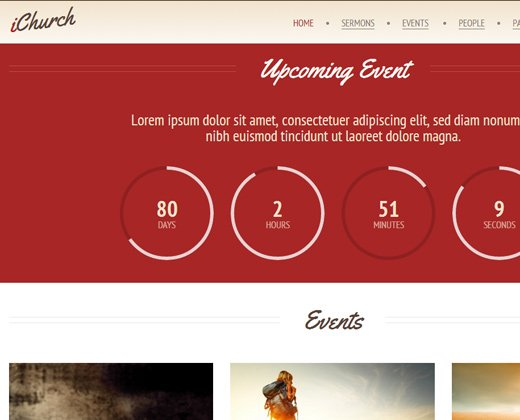 ichurch responsive wordpress premium theme