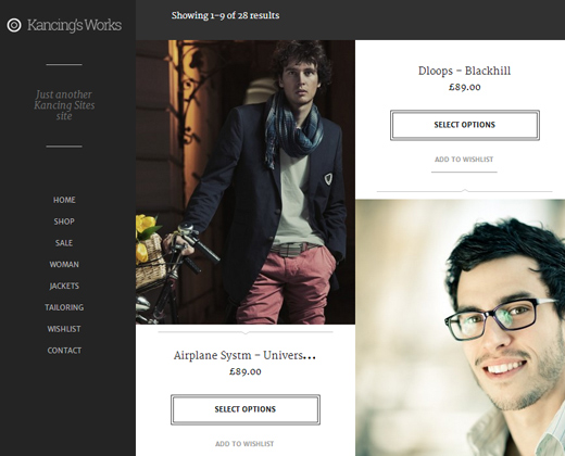 kancing fashion woocommerce theme wordpress responsive
