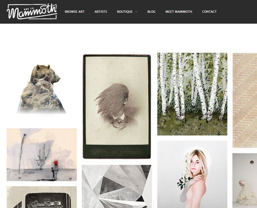 mammoth and company shopify website