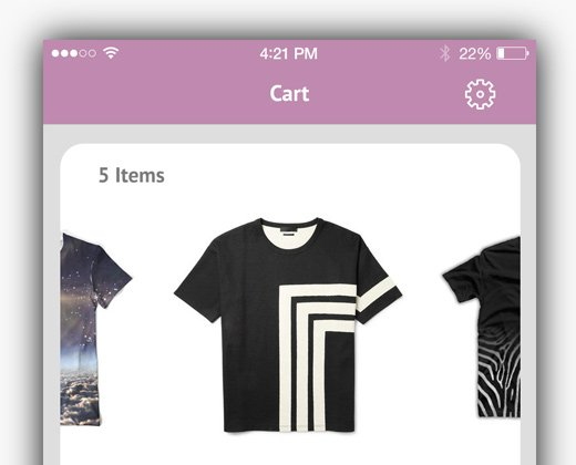 Shopping App Cart Ui Design
