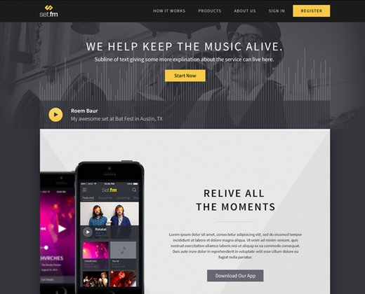 set fm landing page website