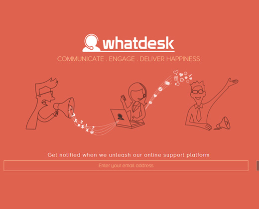 orange whatdesk support startup
