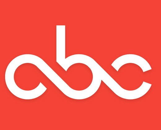 simple typography abc logo