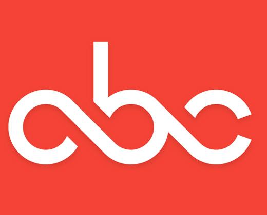 simple typography abc logo