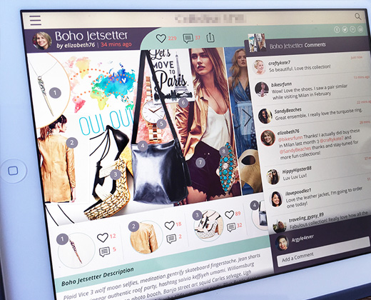 fashion app exploration ipad touch