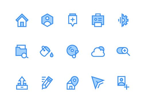 flat icons ai freebie