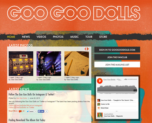 goo goo dolls band website