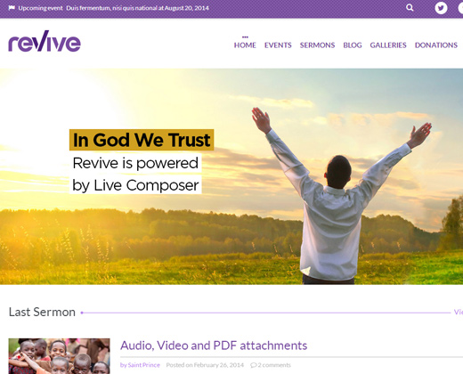 revive church wordpress theme premium