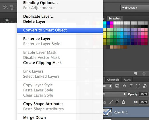 shape layer convert to smart object photoshop