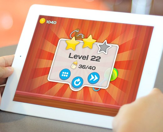 clumsy kids tablet app ui