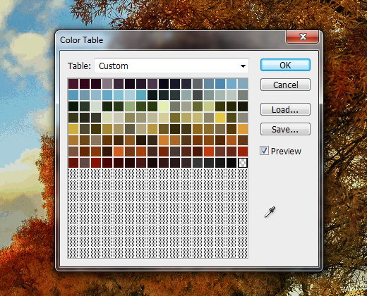color table generator preview window