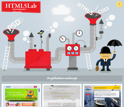creative agency website html5 lab design