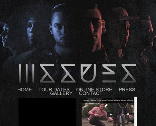 issues band website