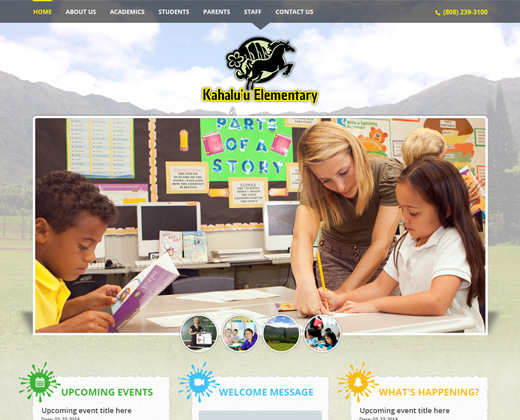 kahaluu elementary school landing page