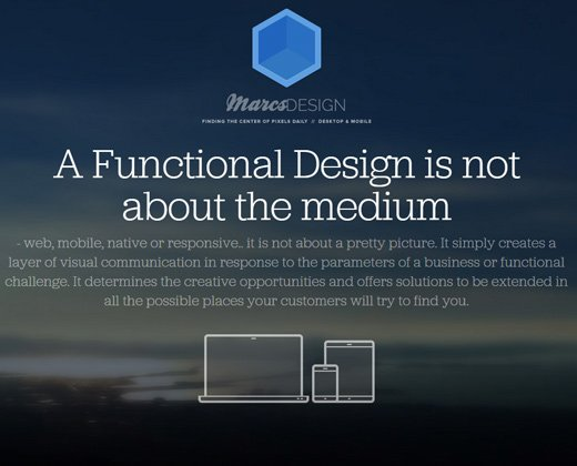 marcm marcs design website homepage