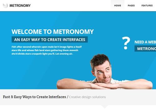 metronomy website wordpress theme template